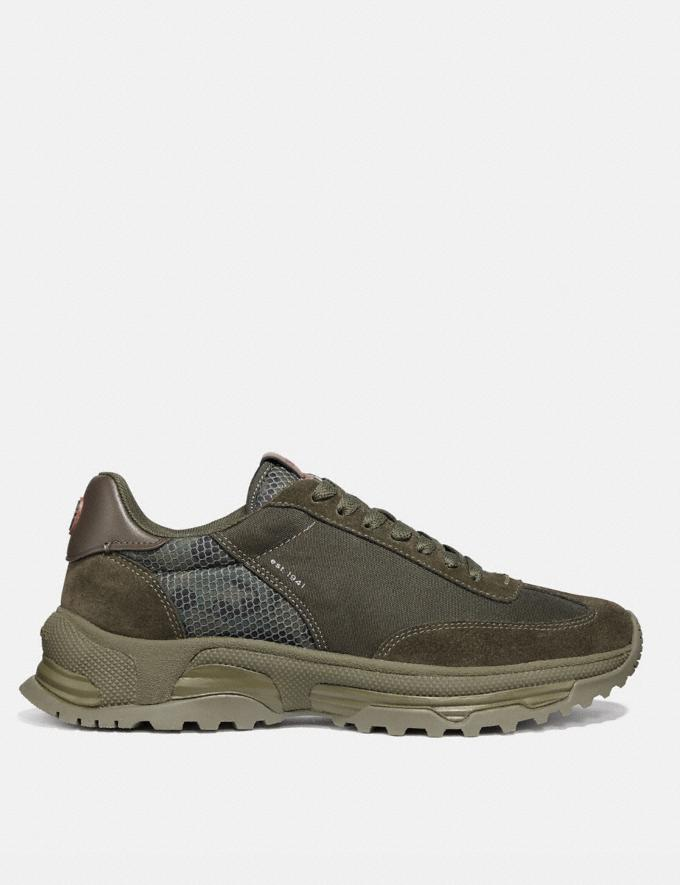 Coach C155 Paneled Runner With Wild Beast Print Wild Beast New Men's New Arrivals Shoes Alternate View 1