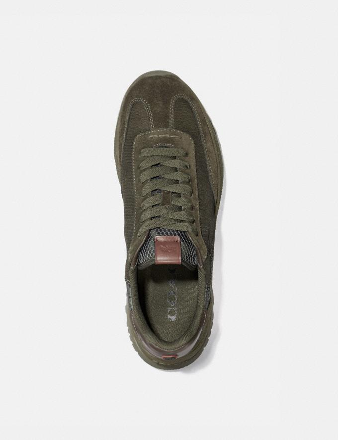 Coach C155 Paneled Runner With Wild Beast Print Wild Beast New Men's New Arrivals Shoes Alternate View 2