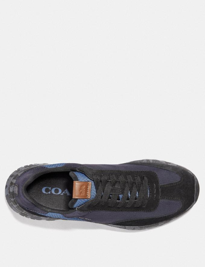 Coach C155 Paneled Runner With Wild Beast Print Blue Camo Men Shoes Sneakers Alternate View 2