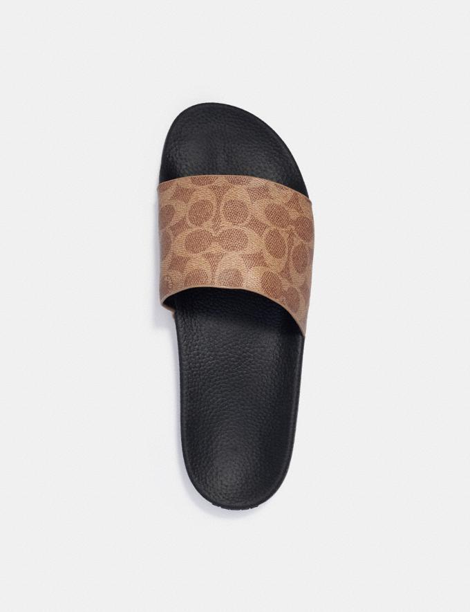 Coach Slide Tan Signature Men Shoes Casual Alternate View 2