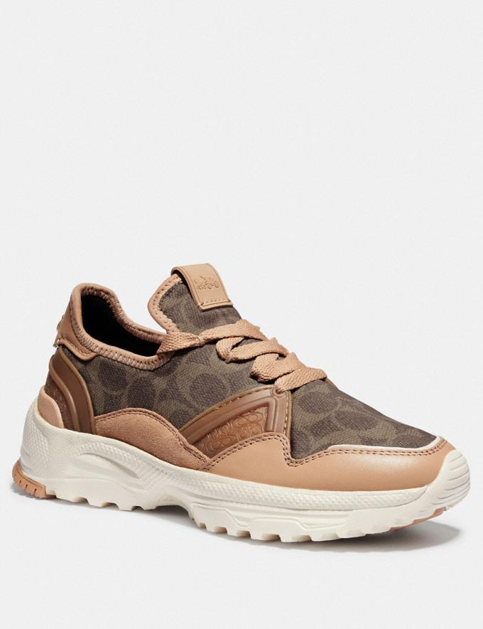 Coach C150 Runner Beechwood/Tan SALE For Her Shoes