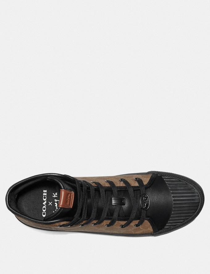 Coach C211 High Top With Rexy by Guang Yu Tan/Black Men Shoes Trainers Alternate View 3
