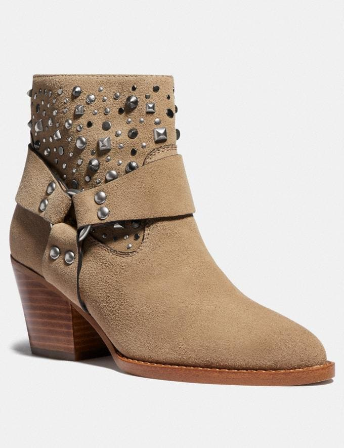 Coach Pia Western Bootie Oat Women Shoes Boots & Booties