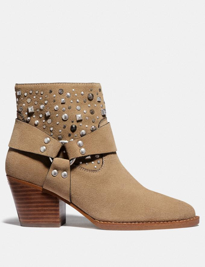 Coach Pia Western Bootie Oat Women Shoes Boots & Booties Alternate View 1