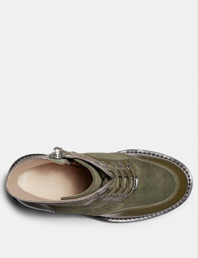 Coach Hedy Bootie Army Green/Tan New Women's New Arrivals Shoes Alternate View 2