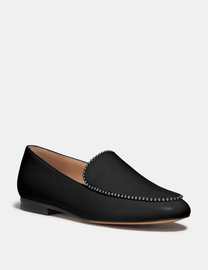 Coach Harper Loafer Black Women Shoes Flats