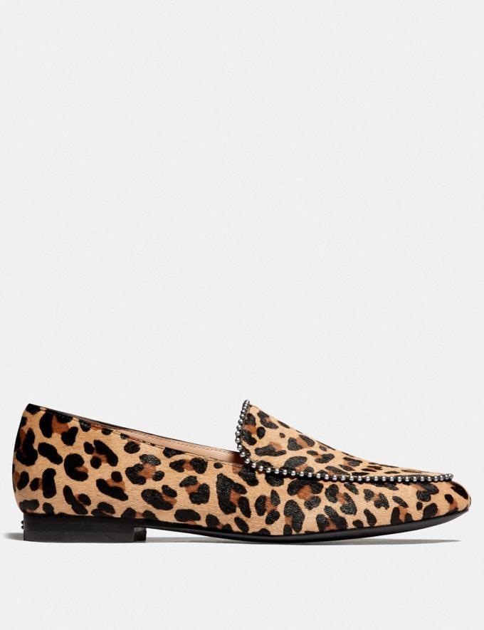 Coach Harper Loafer Natural Women Shoes Flats Alternate View 1
