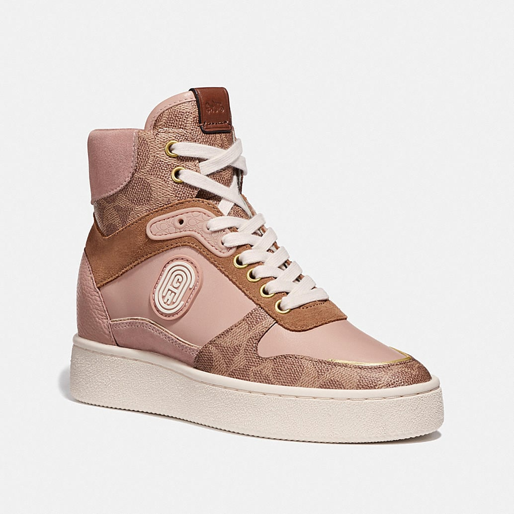 C220 High Top Sneaker With Coach Patch by Coach