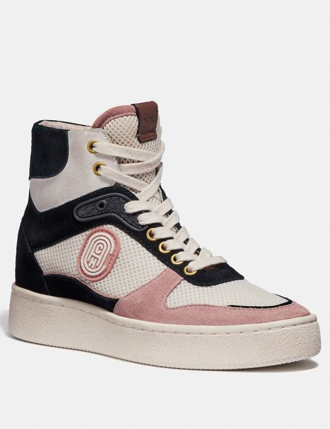 Coach C220 High Top Sneaker Pale Blush/Chalk Women Shoes Trainers
