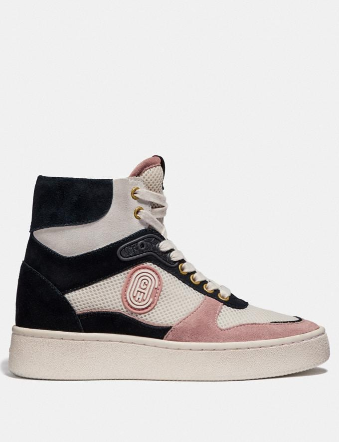 Coach C220 High Top Sneaker Pale Blush/Chalk  Alternate View 1