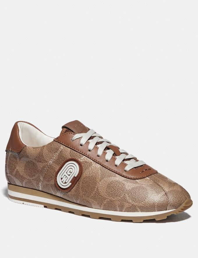 Coach C170 Retro Runner With Coach Patch Tan/Saddle