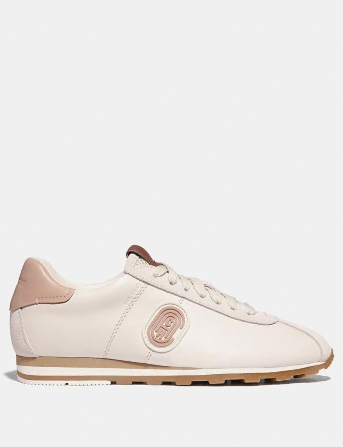 Coach C170 Retro Runner With Coach Patch Chalk/Pale Blush  Alternate View 1
