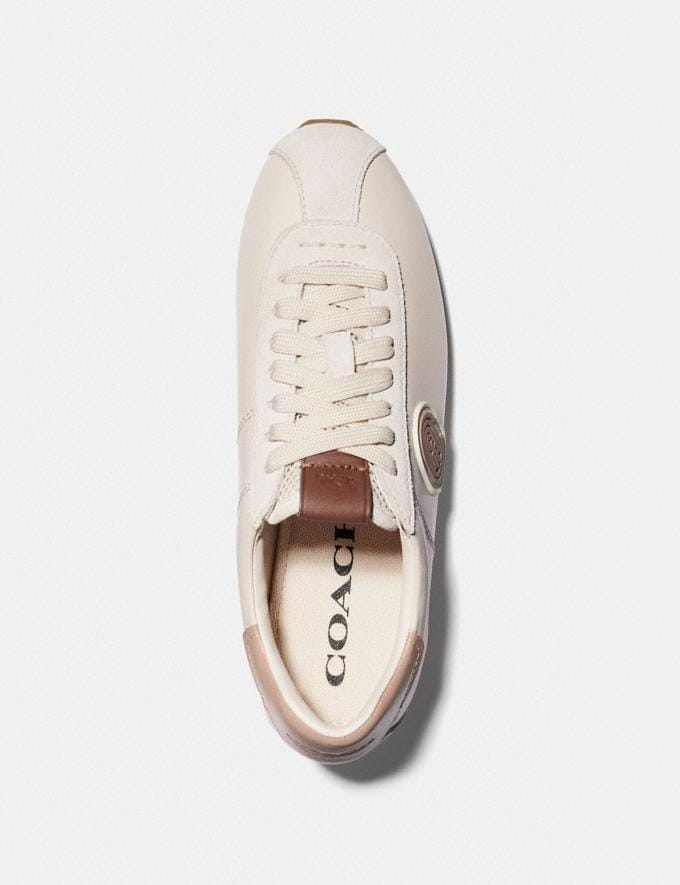 Coach C170 Retro Runner With Coach Patch Chalk/Pale Blush  Alternate View 2