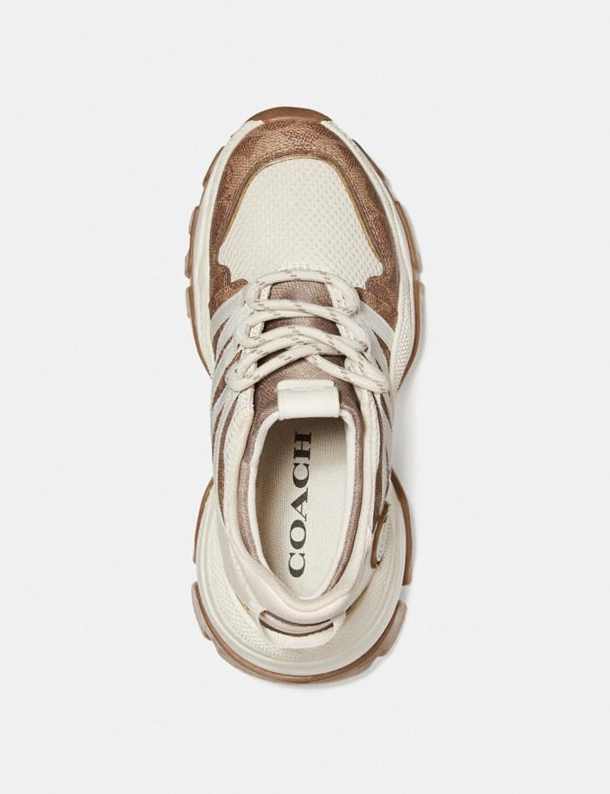 Coach C165 Runner Tan/Chalk Women Shoes Trainers Alternate View 2