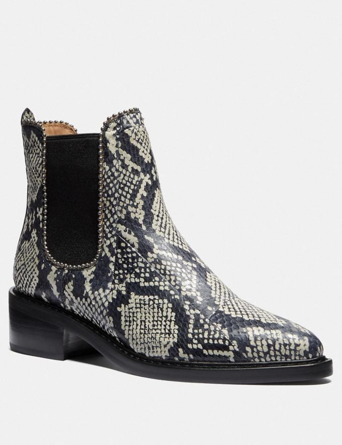 Coach Bowery Bootie in Snakeskin Natural