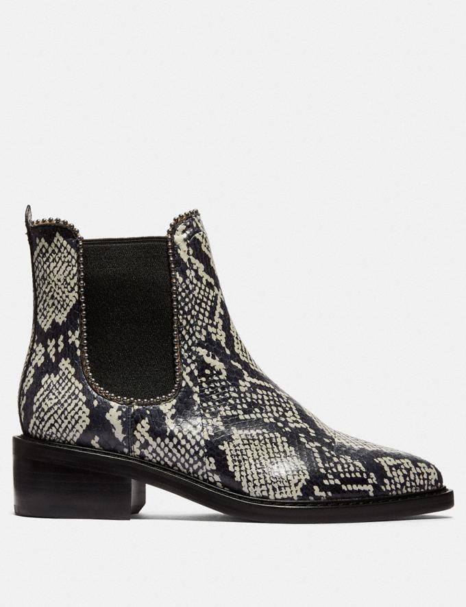 Coach Bowery Bootie in Snakeskin Natural Women Shoes Boots Alternate View 1