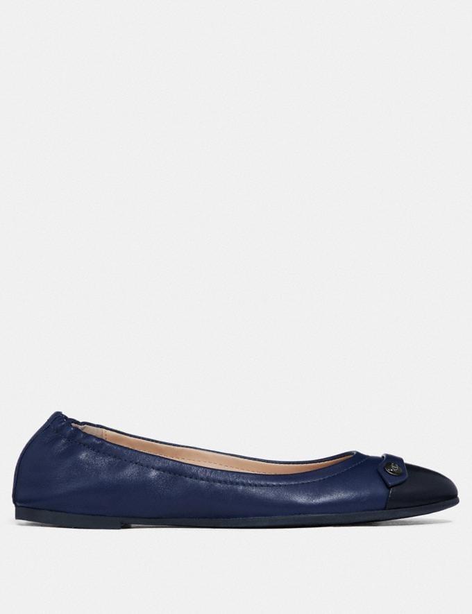 Coach Brandi Ballet Black/Marine Women Shoes Flats Alternate View 1