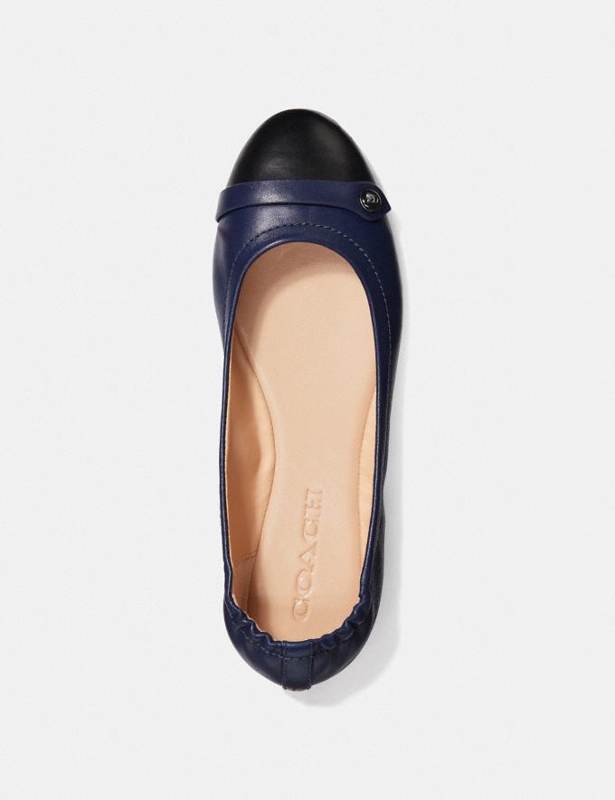 Coach Brandi Ballet Black/Marine Women Shoes Flats Alternate View 2