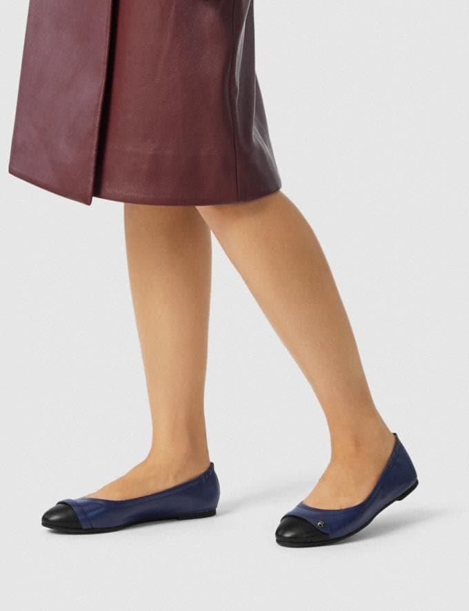 Coach Brandi Ballet Black/Marine Women Shoes Flats Alternate View 4