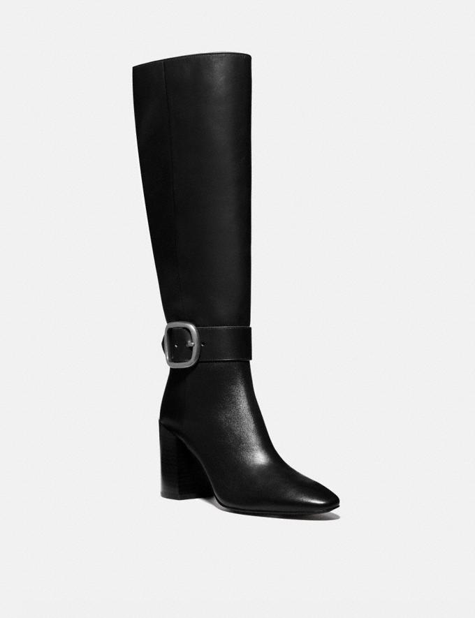 Coach Evelyn Boot Black New Women's New Arrivals Shoes