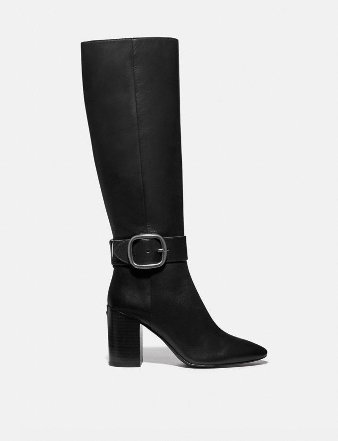 Coach Evelyn Boot Black New Women's New Arrivals Shoes Alternate View 1