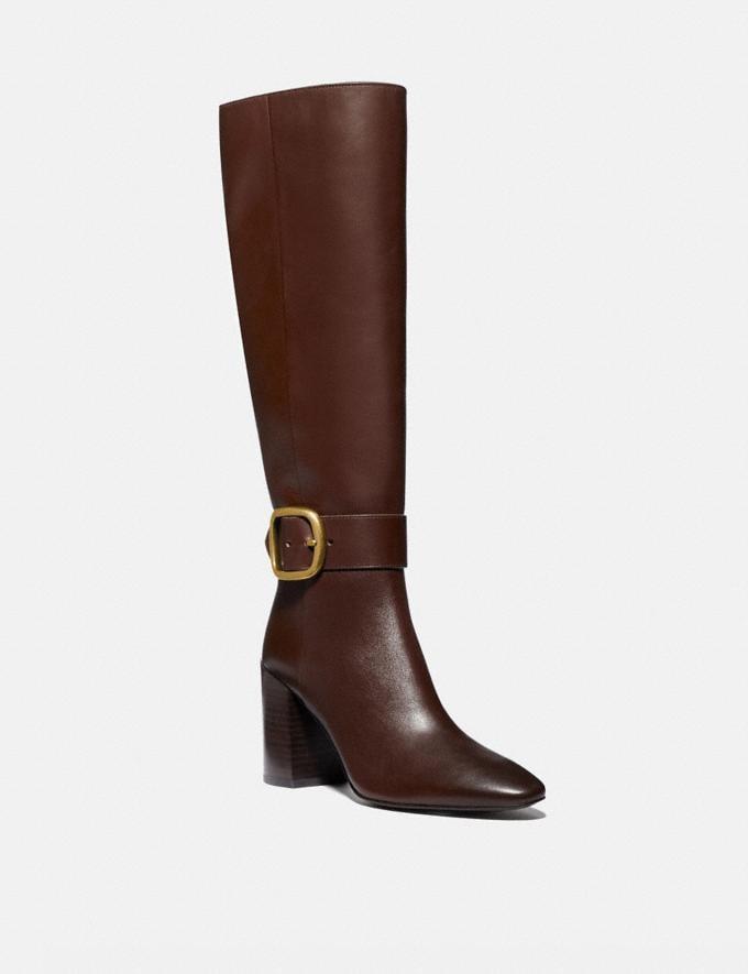 Coach Evelyn Boot Walnut Women Shoes Heels