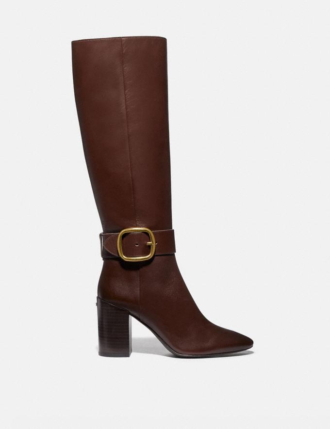 Coach Evelyn Boot Walnut Women Shoes Heels Alternate View 1