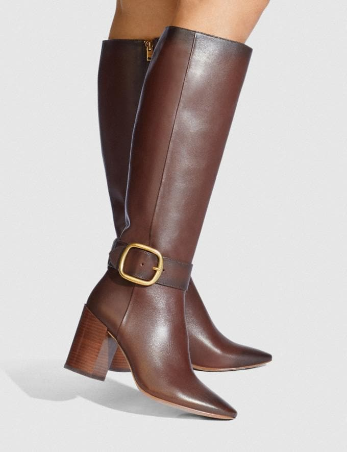 Coach Evelyn Boot Walnut Women Shoes Boots Alternate View 3