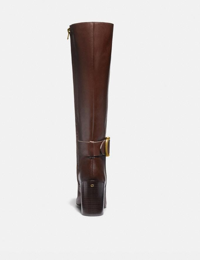 Coach Evelyn Boot Walnut Women Shoes Boots Alternate View 2