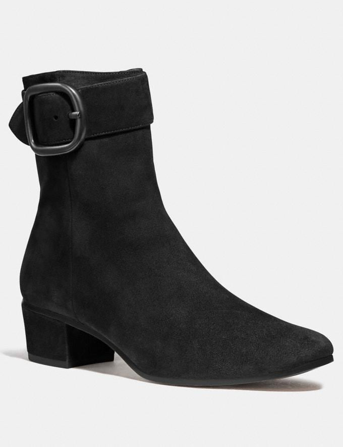 Coach Cassandra Bootie Black Women Shoes Boots