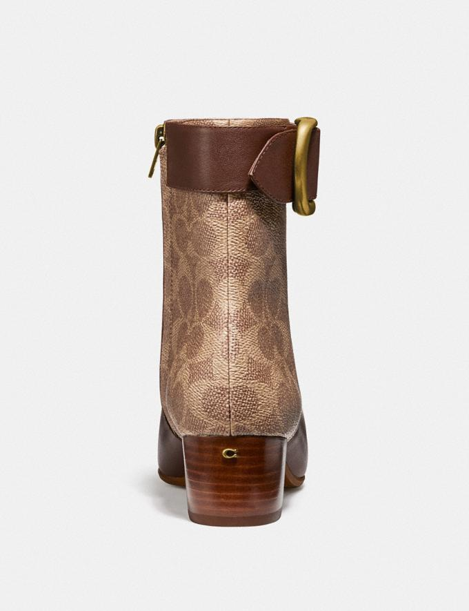 Coach Cassandra Bootie Dark Saddle/Tan  Alternate View 3