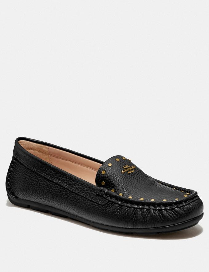 Coach Mckenna Driver Black Women Shoes Flats