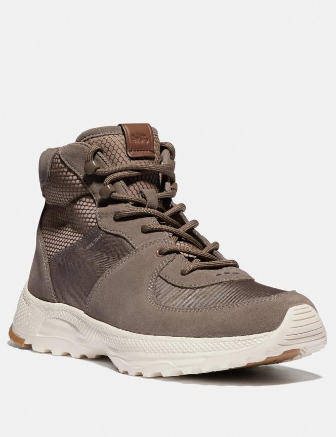 Coach C250 Hiker Boot Dirty Grey Multi Men Shoes Trainers