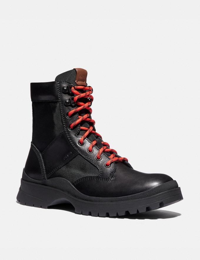 Coach Utility Boot Black New Men's New Arrivals Shoes