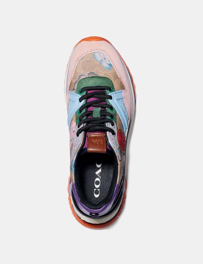 Coach C143 Runner With Kaffe Fassett Print Pink/Pink Blue Women Shoes Sneakers Alternate View 2