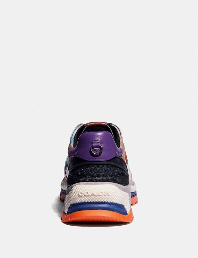 Coach C143 Runner With Kaffe Fassett Print Pink/Pink Blue Women Shoes Sneakers Alternate View 3