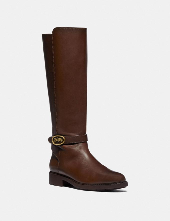 Coach Ruby Boot With Extended Calf Walnut