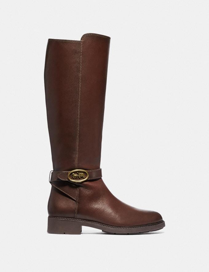 Coach Ruby Boot With Extended Calf Walnut  Alternate View 1