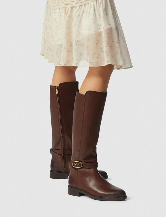 Coach Ruby Boot With Extended Calf Walnut  Alternate View 3