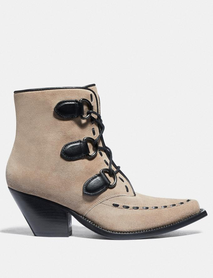 Coach Lace Up Chain Bootie Oat  Alternate View 1