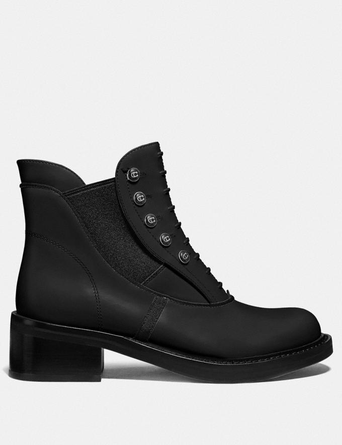 Coach Coach X Tabitha Simmons Chelsea Moto Bootie Black Women Shoes Boots & Booties Alternate View 1