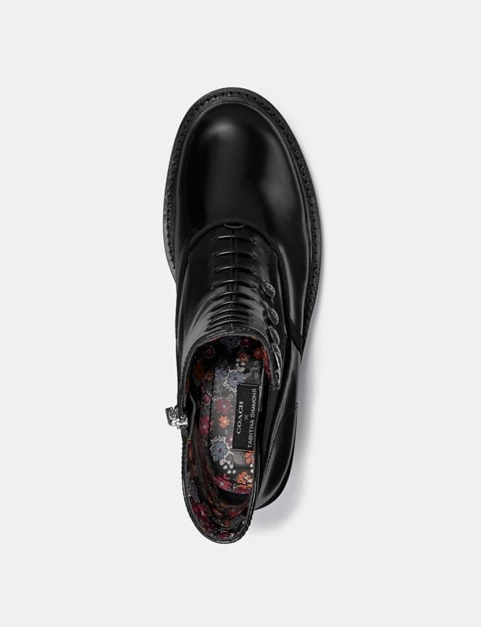 Coach Coach X Tabitha Simmons Chelsea Moto Bootie Black Women Shoes Boots Alternate View 2
