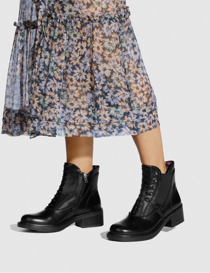 Coach Coach X Tabitha Simmons Chelsea Moto Bootie Black Women Shoes Boots Alternate View 4