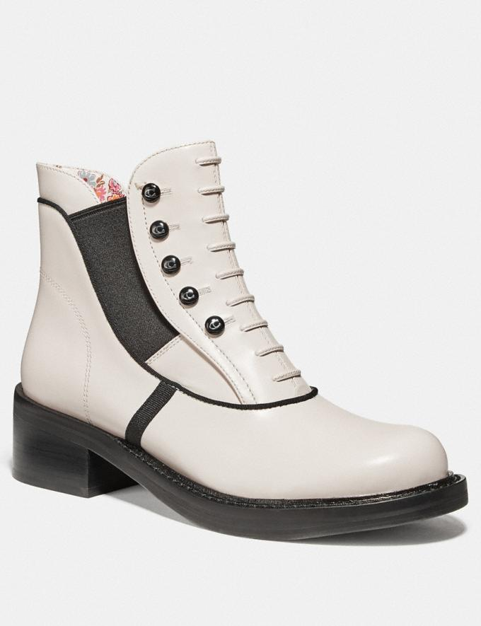 Coach Coach X Tabitha Simmons Chelsea Moto Bootie Chalk New Featured Coach x Tabitha Simmons