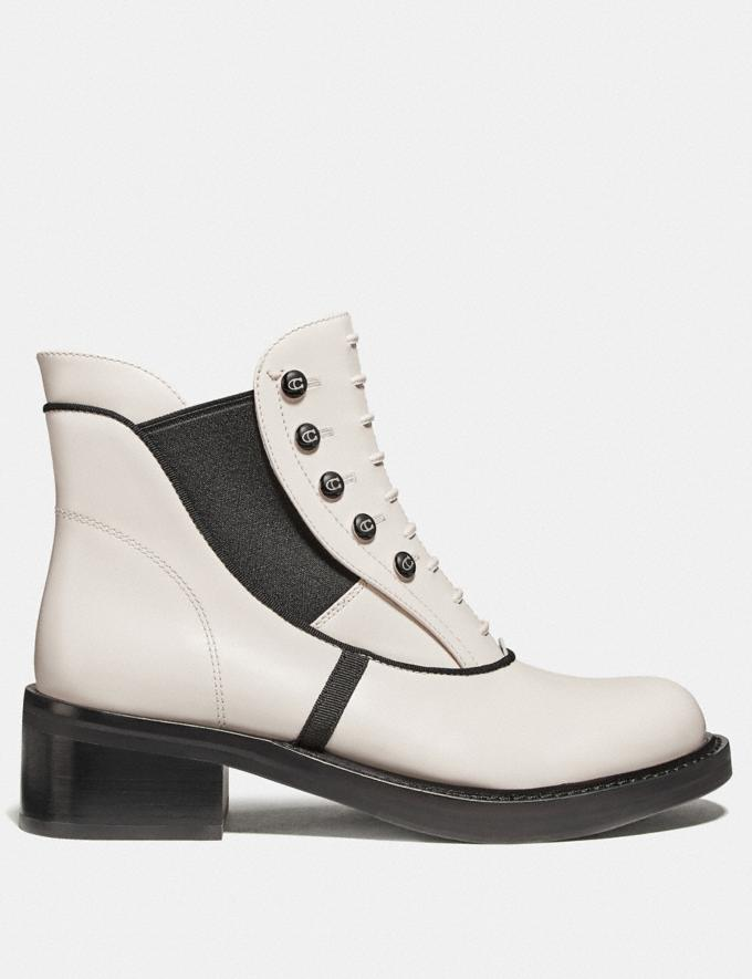 Coach Coach X Tabitha Simmons Chelsea Moto Bootie Chalk New Featured Coach x Tabitha Simmons Alternate View 1