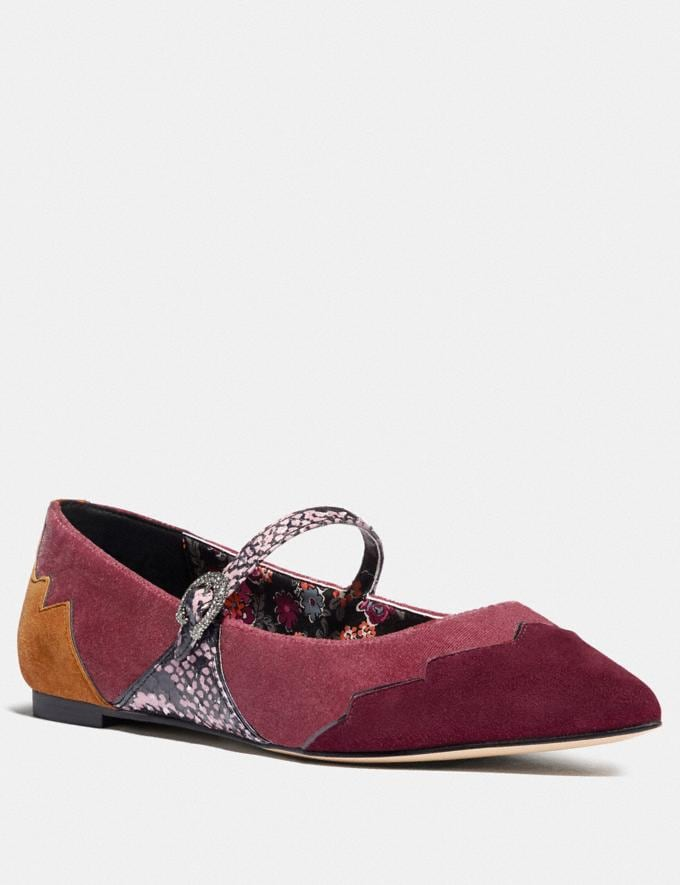 Coach Coach X Tabitha Simmons Harriette Flat Plum/Mauve Women Shoes Flats