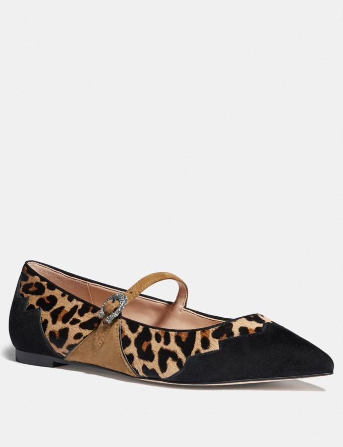 Coach Coach X Tabitha Simmons Harriette Flat Natural/Peanut Women Shoes Flats