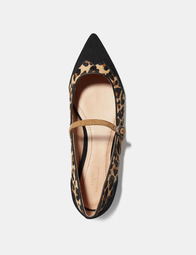 Coach Coach X Tabitha Simmons Harriette Flat Natural/Peanut Women Shoes Flats Alternate View 2