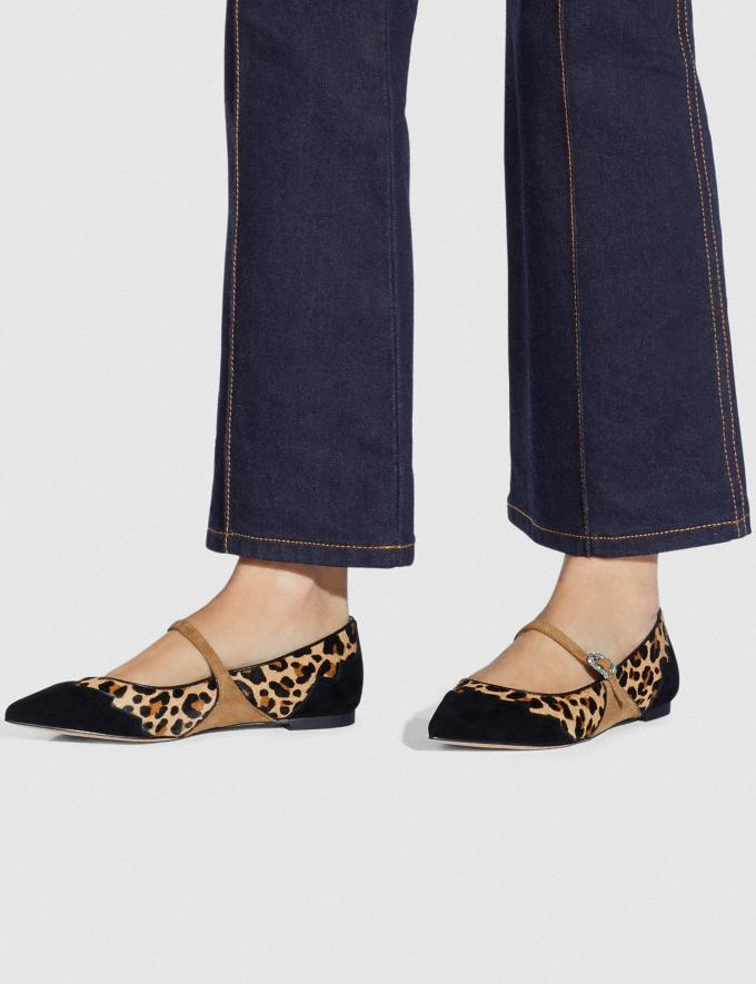 Coach Coach X Tabitha Simmons Harriette Flat Natural/Peanut Women Shoes Flats Alternate View 4