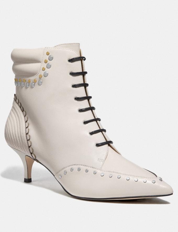 Coach Coach X Tabitha Simmons Jaden Lace Up Bootie Chalk SALE Women's Sale Shoes
